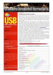 cronache ferroviarie 9 2011 - Trasporti - Unione Sindacale di Base