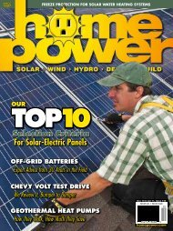 For Solar-Electric Panels - Home Power Magazine