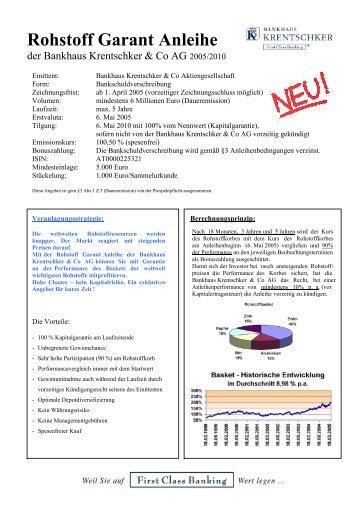 Rohstoff Garant Anleihe - Bankhaus Krentschker & Co ...