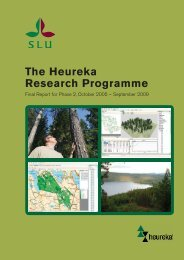 The Heureka Research Programme - Mistra