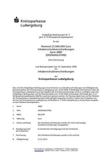 DE000A0L0YM6 - Kreissparkasse Ludwigsburg