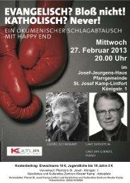 Mittwoch 27. Februar 2013 20.00 Uhr - Katholische Pfarrgemeinde ...