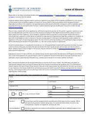 Leave of Absence Form - School of Graduate Studies - University of ...