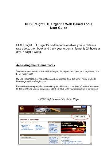 LTL Bill of Lading / Pick-Up Notification - UPS Freight