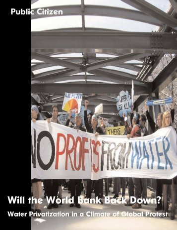 Will the World Bank Back Down?