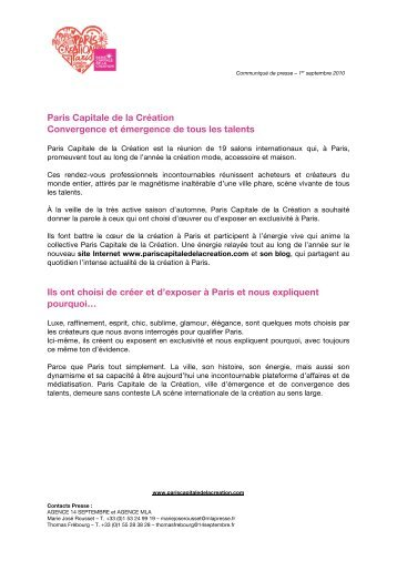 Paris Capitale de la Création - maison-objet-press.com