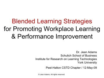 Blended learning strategies for promoting workplace learning ...