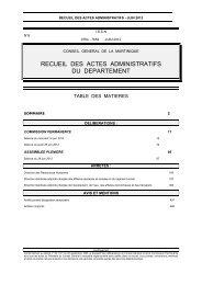 commission permanente - Le Conseil Général de la Martinique