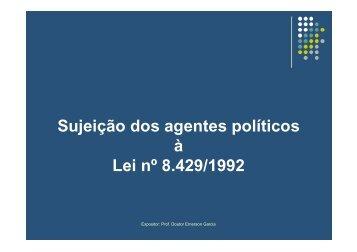 Sujeitos passivos dos atos de improbidade - Tribunal Regional ...