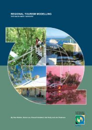 REGIONAL TOURISM MODELLING - Sustainable Tourism Online
