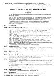 DCE 06b Cloisons Doub Plaf Plâtre - Commune de Lanrivoaré