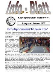 Januar 2007 - KSV Wetzlar