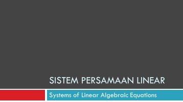 MT Sistem Persamaan Linear - istiarto