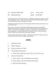 2009, 06, 17, Regular Board Meeting Agenda