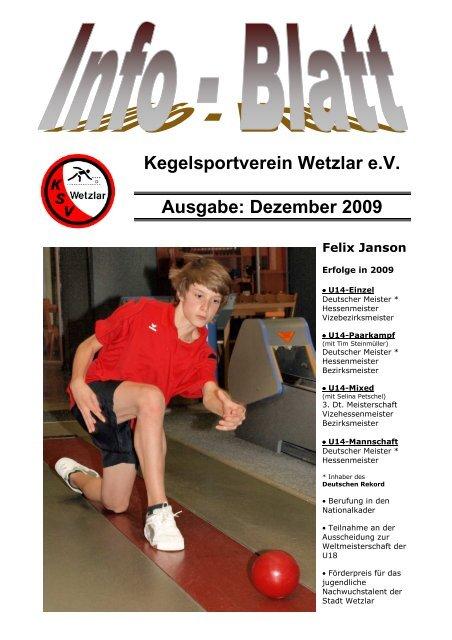 Dezember 2009 - KSV Wetzlar