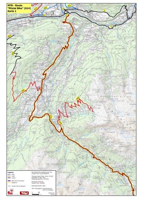 Pitztal Karte.Mtb Route Pitztal Bike 614 Karte 1 Alpintouren Com