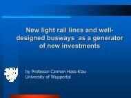 New Light Rail Lines & Well-designed Busways as a ... - TRICS