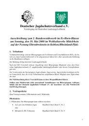 Ausschreibung zum 2. Bundeswettbewerb im Es-Horn ... - Jagdnetz.de
