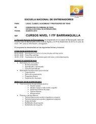 cursos nivel 1 itf barranquilla - Federación Colombiana de Tenis