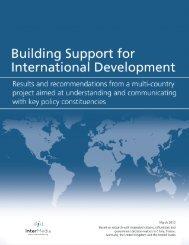 Building Support for International Development - AudienceScapes