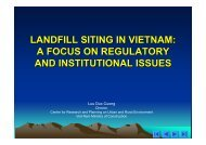 LANDFILL SITING IN VIETNAM: A FOCUS ON REGULATORY AND ...