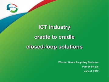 ICT industry cradle to cradle closed-loop solutions