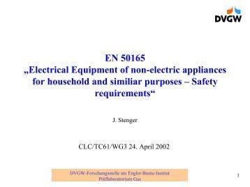 Neue Technologien und Sicherheit von Gasgeräten Methoden zur ...