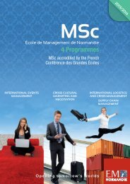 Download programme's brochure - EM Normandie