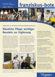 franziskusbote 1/07_ok - Stiftung St. Franziskus Heiligenbronn