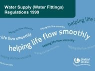 Water Supply (Water Fittings) Regulations 1999 - United Utilities