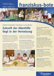 franziskus-bote September 2010 (PDF 1,0 MB - Stiftung St ...