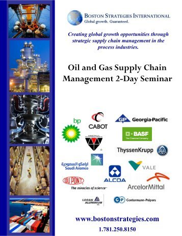Oil and Gas Supply Chain Management 2-Day Seminar - Boston ...