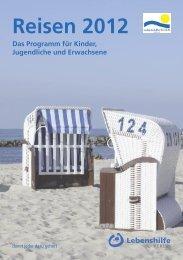 Reisen 2012 Das Programm für Kinder ... - Lebenshilfe Berlin