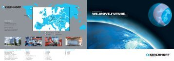 WE.MOVE.FUTURE. - Kirchhoff Gruppe