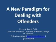 A New Paradigm for Dealing with Offenders