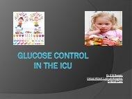 Glucose control in the ICU
