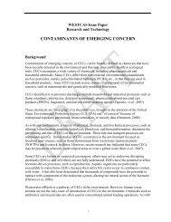 CONTAMINANTS OF EMERGING CONCERN - WESTCAS