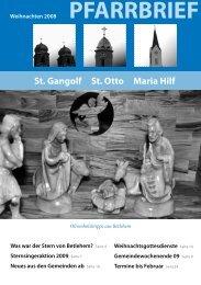 Weihnachten 2008 - St. Gangolf