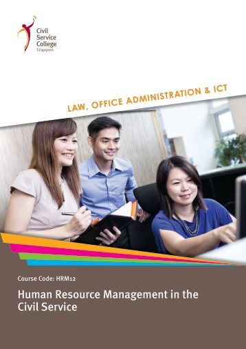 Human Resource Management in the Civil Service