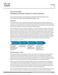 Substation Automation Solutions for Utility Operations - Cisco