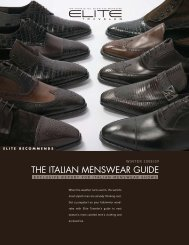 THE ITALIAN MENSWEAR GUIDE - Elite Traveler