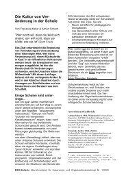 Die Kultur von Veränderung in der Schule - Www3.datacomm.ch