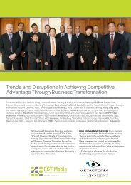 Trends and Disruptions in Achieving Competitive ... - FST Media