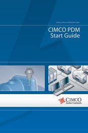 CIMCO PDM Start Guide