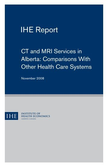 CT and MRI Services in Alberta - Institute of Health Economics