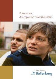 Prestations d'intégration professionnelle - Stiftung Fondation ...