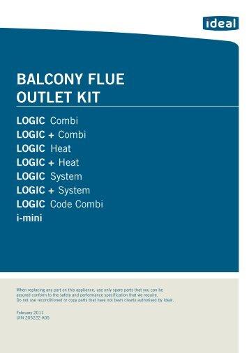 BALCONY FLUE OUTLET KIT LOGIC - Ideal Heating