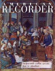 j a n u a r y 2 0 0 3 - American Recorder Society