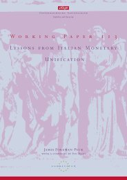 Working Paper 113 - Lessons from Italian Monetary Unification
