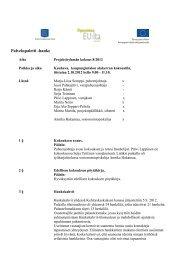 projektiryhmän pöytäkirja8.2012 - Kauhava